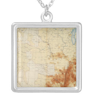 10 Colored population 1890 Silver Plated Necklace