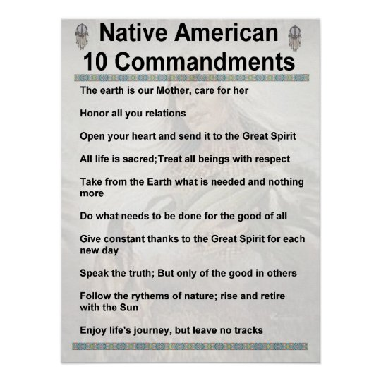 10 commandments NA Poster