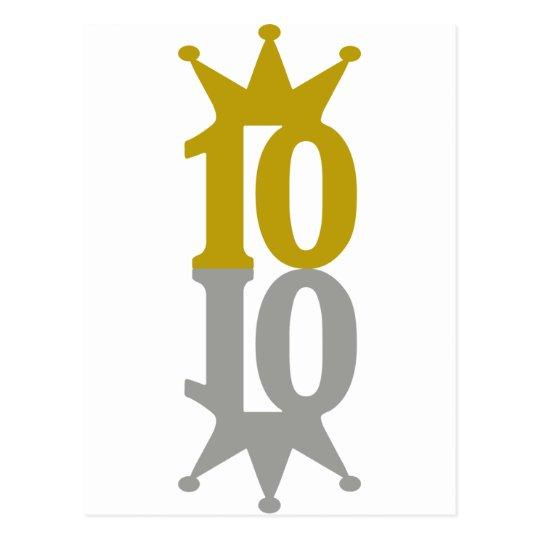 10-Crown-Reflection Postcard