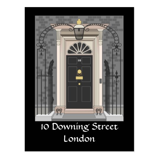 10 Downing Street, London (drawing) Postcard