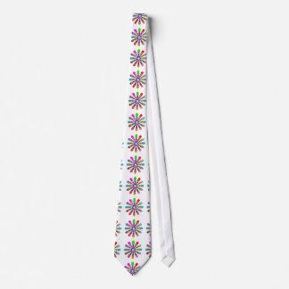 10 Elegant Flower Round Chakra Wheel Rainbows Tie