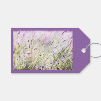 10 Floral Purple Gift Tags