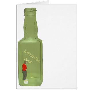 10 green bottles 2 greeting card