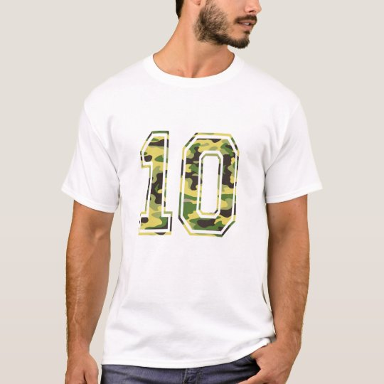 #10 Green & Yellow Camo T-Shirt