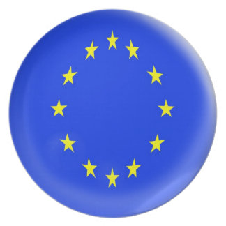 10 inch Plate Europe flag