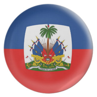 10 inch Plate Haiti flag