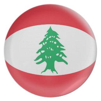 10 inch Plate Lebanon flag