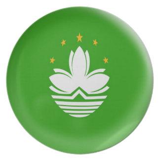 10 inch Plate Macau flag