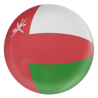 10 inch Plate Oman flag