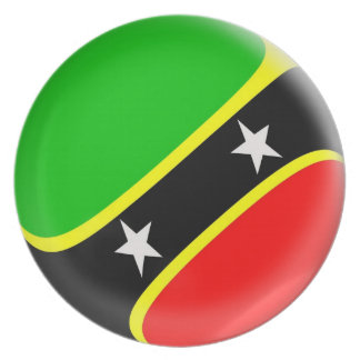10 inch Plate Saint Kitts & Nevis flag