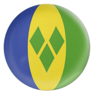 10 inch Plate Saint Vncent & the Grenadines flag