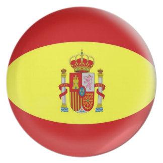10 inch Plate  Spain Spanish flag
