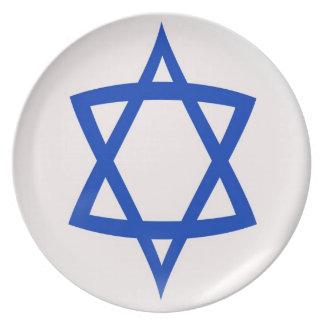 10 inch Plate  Star of David flag