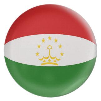 10 inch Plate Tajikistan flag