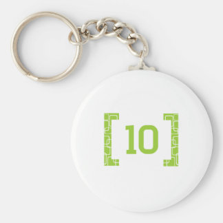 #10 Lime Green Key Ring