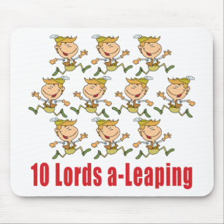 10 Lords a-Leaping Mousepad
