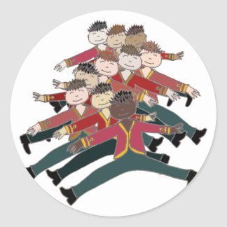 10 Lords a-leaping Round Sticker