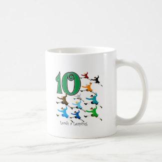 10 Lords Leaping Basic White Mug