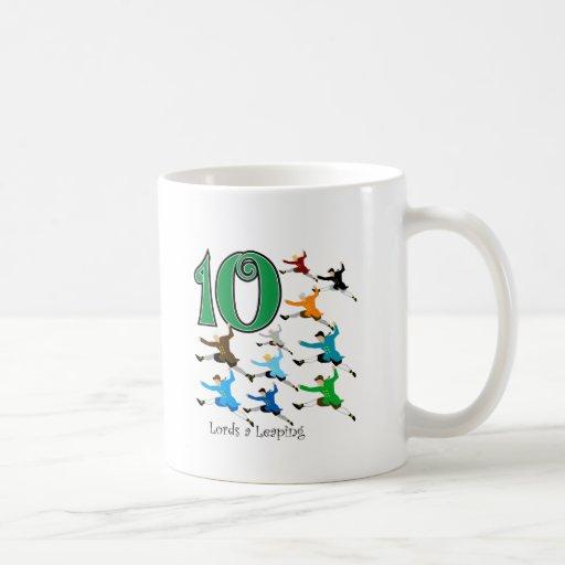 10 Lords Leaping Coffee Mug