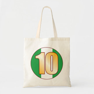 10 NIGERIA Gold Tote Bag