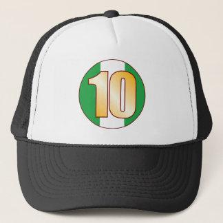 10 NIGERIA Gold Trucker Hat