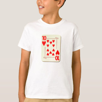 10 of Hearts Playing Card T-Shirt