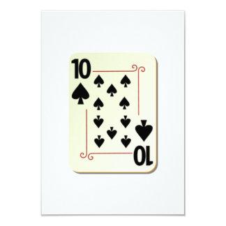 10 of Spades Playing Card 9 Cm X 13 Cm Invitation Card
