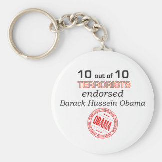 10 out of 10 Terrorist Endorsed Basic Round Button Key Ring