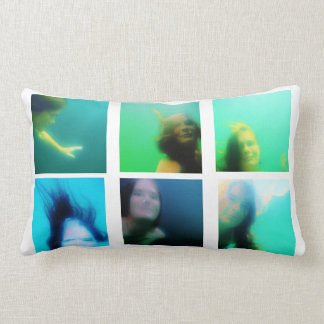10 Photo Instagram Collage white background Lumbar Pillow