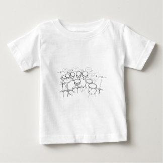 10 Piece Drum Kit: Black & White Drawing: Baby T-Shirt