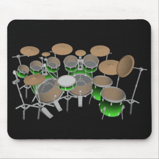 10 Piece Drum Kit: Green Gradient: Drums Mousepad