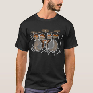 10 Piece Drum Kit: Orange Gradient: Black T-Shirt