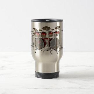10 Piece Drum Kit: Red Gradient: Travel Mug
