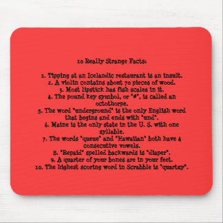 10 Really Strange Facts Mouse Mat