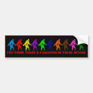 10 TEN LITTLE SQUATCHES - Colorful Finding Bigfoot Bumper Sticker