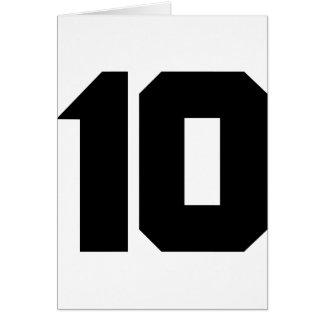 10 ten number greeting card