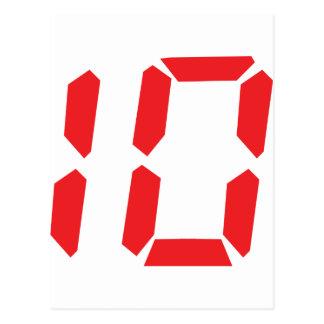10 ten red alarm clock digital number postcards