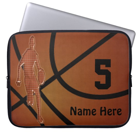 10 to 15 inch Basketball Laptop Case NAME,