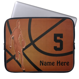 10 to 15 inch Basketball Laptop Case NAME, NUMBER Computer Sleeves