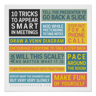 10 Tricks to Appear Smart During Meetings Poster