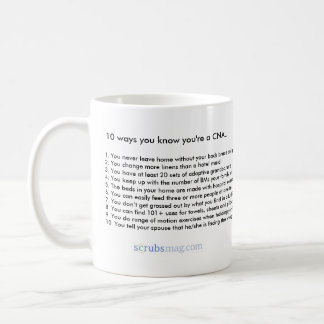 10 ways you know you're a CNA Basic White Mug
