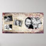 """10""""x20"""" 4 Slot Family Collage Montage Fleur De Lis Poster"""