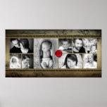 "10""x20"" 8 Slot Family Collage Montage Rejoioce Print"