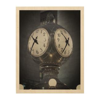 "10""x8"" Wood Wall Art Clock Grand Central New York"
