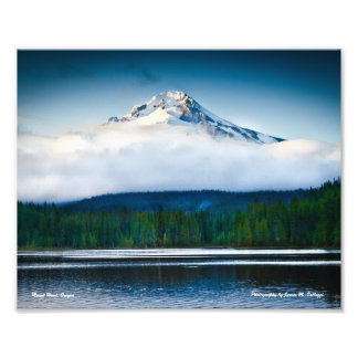 "10"" x 8"" Mount Hood from Trillium Lake Art Photo"