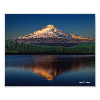 "10"" x 8"" Mount Hood from Trillium Lake Photographic Print"