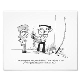 "10"" x 8"" Print - Fishing Cartoon - The Hobby Photo"
