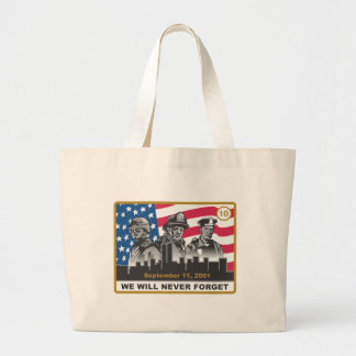 10 Year 9/11 Anniversary Design Large Tote Bag