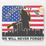 10 Year 9/11 Firefighter Anniversary Design Mouse Mats