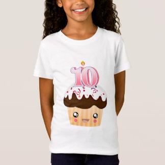 10 Year Cupcake T - Pink T-Shirt